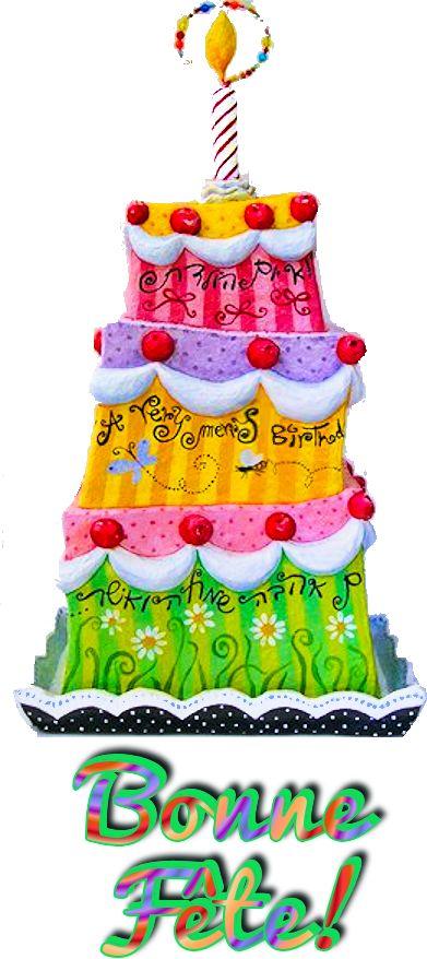 Gâteau étagé, bonne fête