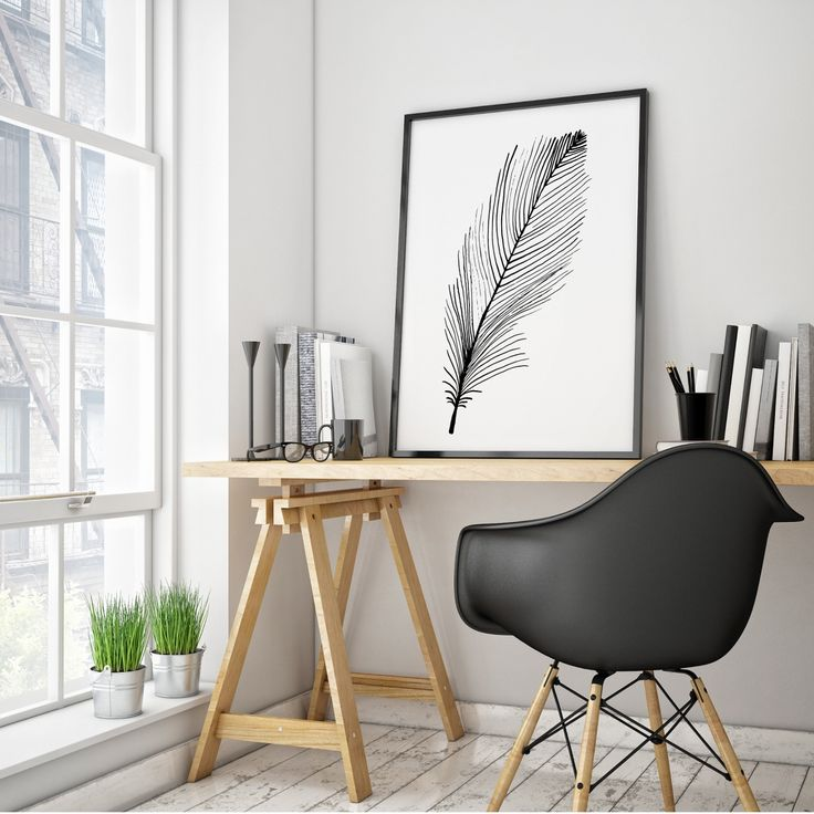 Feather Print 50x70cm available at www.merrymarch.com.au