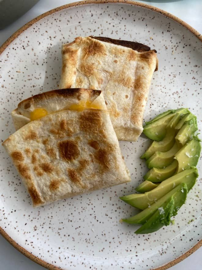 I Tried The Popular Toaster Dilla Hack From Tiktok And It Was Awesome Food Cooking How To Make Quesadillas