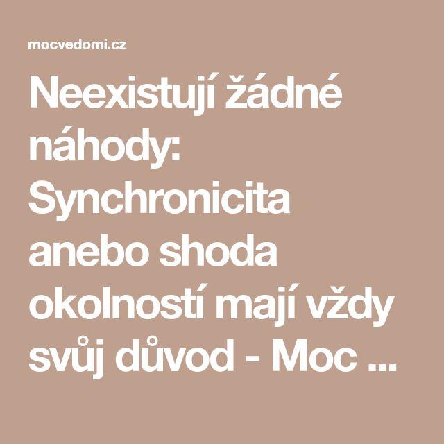 Neexistují žádné náhody: Synchronicita anebo shoda okolností mají vždy svůj důvod - Moc vědomí