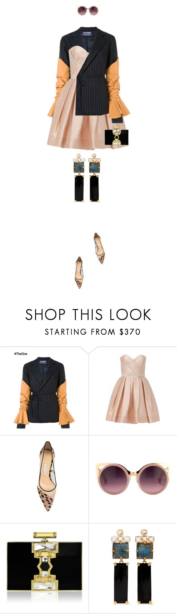 """eva 0652"" by evava-c on Polyvore featuring Jacquemus, Paule Ka, Bionda Castana, Erdem, Judith Leiber and Bounkit"