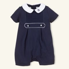 boy Pleated Cotton Bubble Shortall - Layette One-Pieces - RalphLauren.com