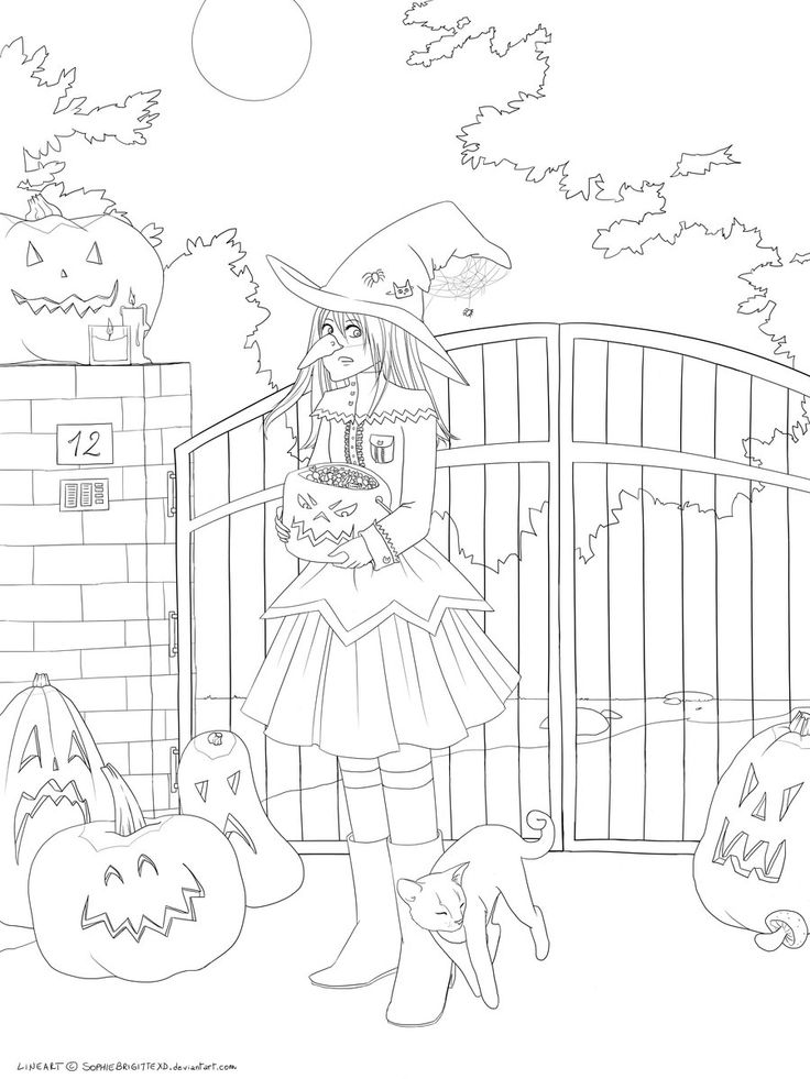 Halloween - Lineart by SophieBrigitteXD.deviantart.com on @deviantART