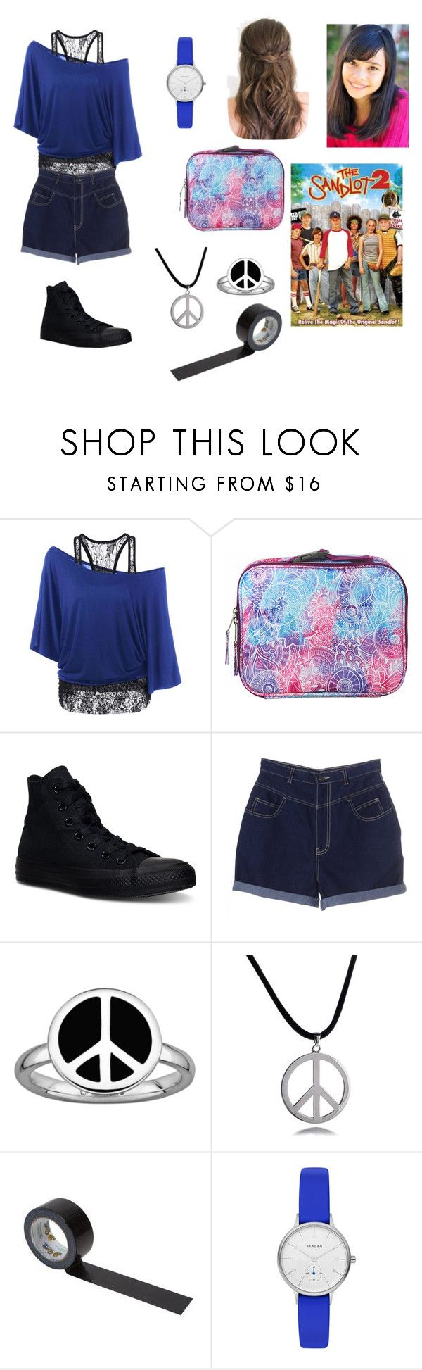 """Entering the sandlot-The Sandlot 2 OC (Read D!)"" by silverbellatrix ❤ liked on Polyvore featuring Dickies, Converse, Stacks and Stones, Bling Jewelry and Skagen"