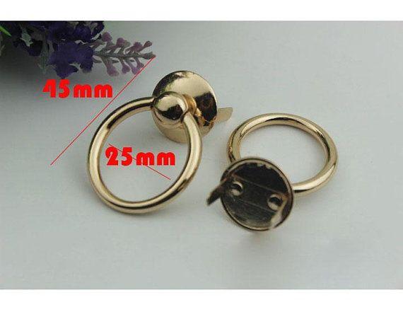 10-100 PCS 25mm gold gun-metal bag purse Connector clasp Solid with feet  29bafedcddced