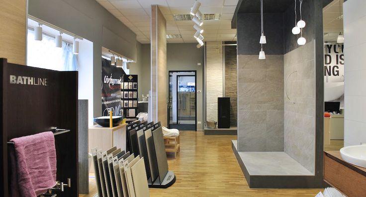 Progettazione Showroom arredo bagno in Lissone -  Milano.