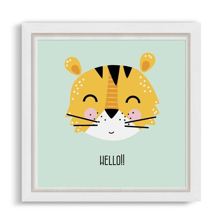 Cuadrito Kids Box Blanco - Hello Tiger