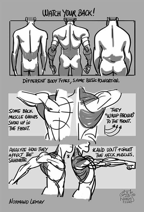 how to draw someone from the back