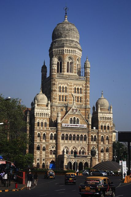 Brihanmumbai Municipal Corporation - Mumbai, Maharastra, India. Mumbai city government is housed in this building since 1884.
