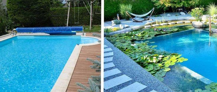 La piscine au chlore transformée en baignade naturelle. © Biotop