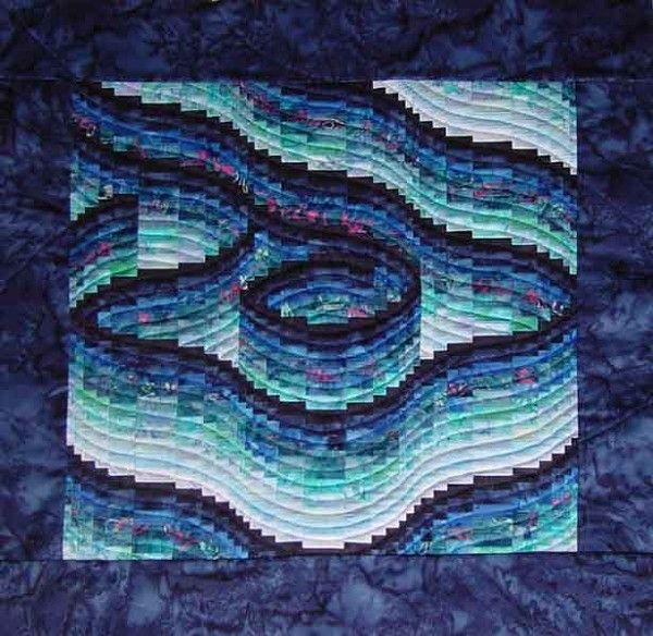 Free Bargello Quilt Patterns to Download | Bargello Blues quilt pattern / Quilter's Market, Quilting Gallery