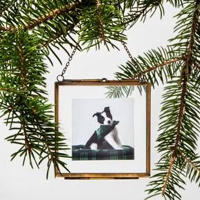 "Pressed Glass Photo Frame Ornament (3"") - Hearth & Hand™ with Magnolia at Target, available November 5th. Affiliate link."