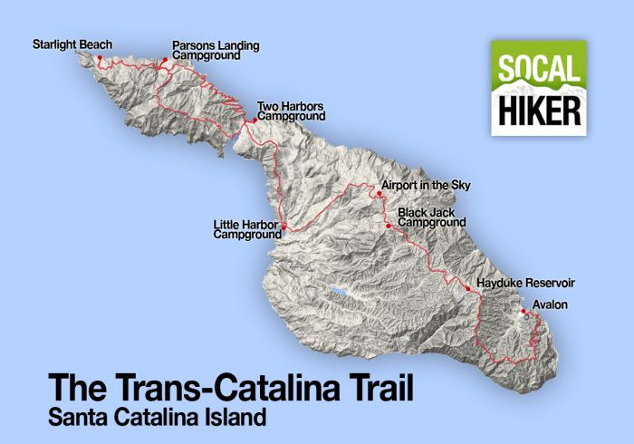 Trans-Catalina Trail | 46 mile trail spanning the length of Santa Catalina Island - Trail Overview by SoCal Hiker