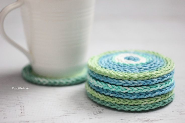 Repeat Crafter Me: Chain Stitch Coasters