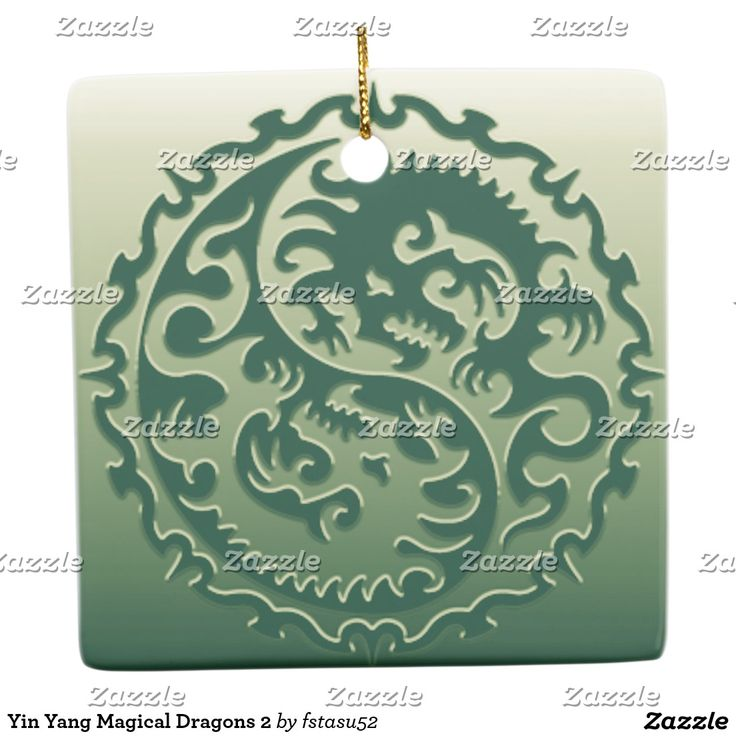 Yin Yang Magical Dragons 2 Ceramic Ornament
