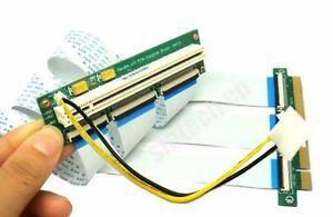 PCI-e express 16X Riser Extender Card +10/20cm FPC Cable+molex 4 bitcoin miner