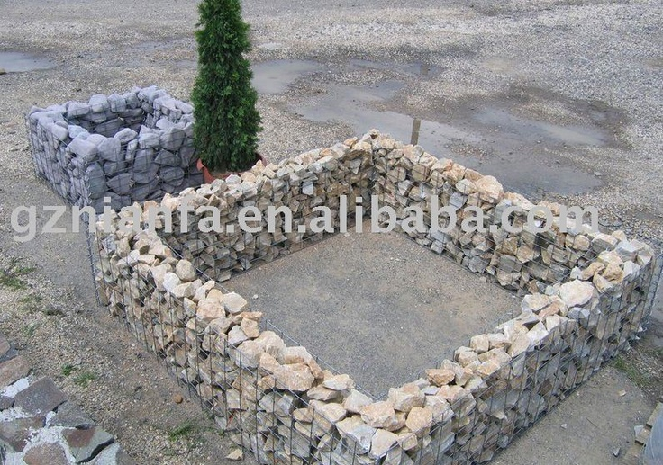 how to build a gabion raised bed
