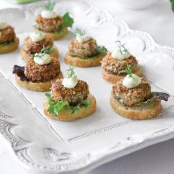mini salmon croquette canapes : teatime mag