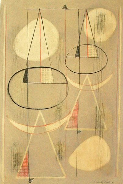 AMALIA NIETO, Payasos II, 1958, Lithograph, 27⅜ x 20⅜ in. 69,5 x 51,7 cm.