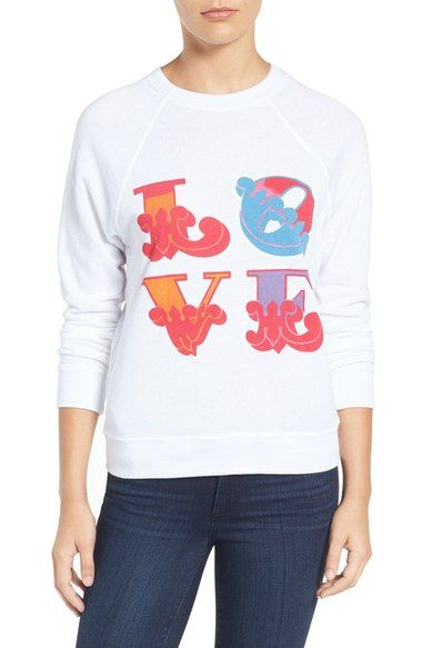 REBECCA MINKOFF Love Graphic Sweatshirt. #rebeccaminkoff #cloth #
