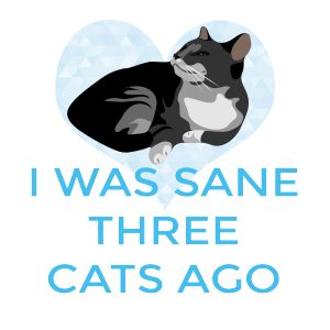 I was sane three cats ago! Perfect tee for a crazy cat lady.   Fabrily