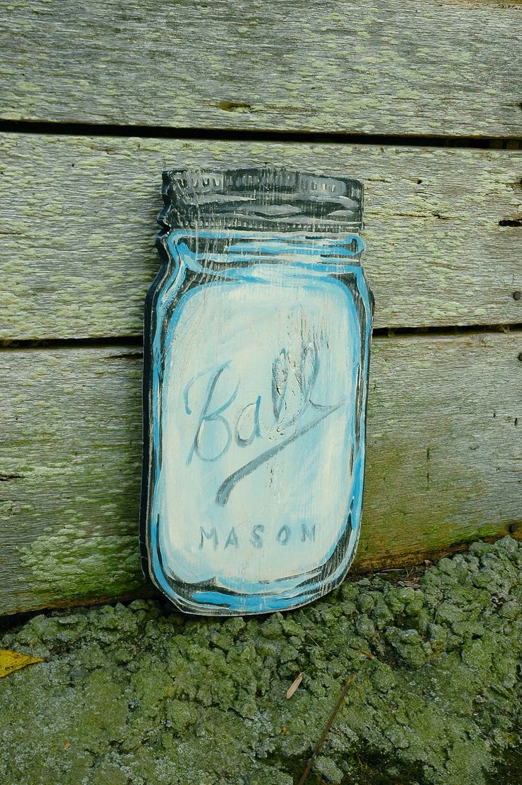 Primitive stencil home sweet home 12x12 for painting signs crafts - Mason Jar Handmade Wood Art Sign Large Wall Hanging Vintage Home Decor 60 00 Via