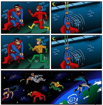 chistes de superheroes superman