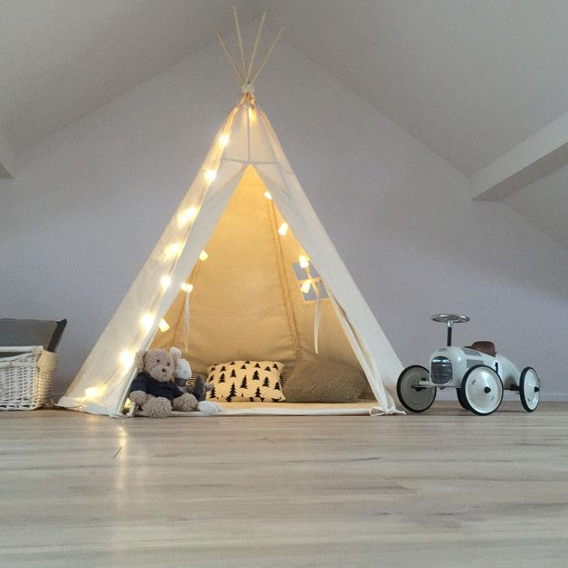 Home Accessories / Childres's toys – Teepee natural made of 100% cotton – a unique product by Babosklep via en.DaWanda.com