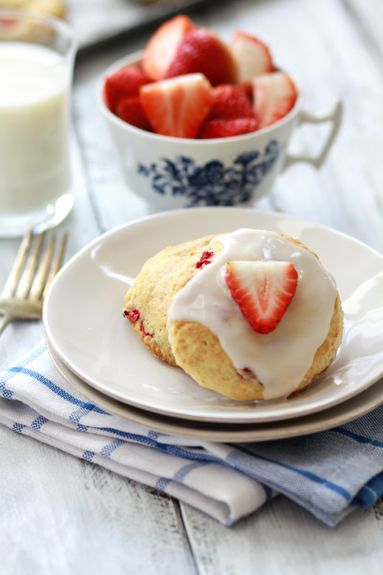 Spring Produce and strawberry scones recipe