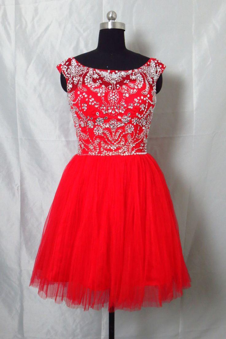 Prom Dresses2013 Scoop Short/Mini Organza Beaded Open Back USD 189.99 LDP1K3R1A5 - LovingDresses.com