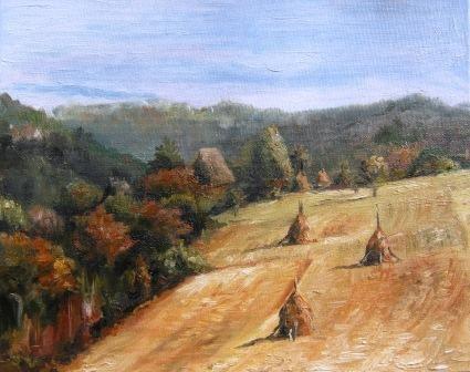 Autumn, oil painting