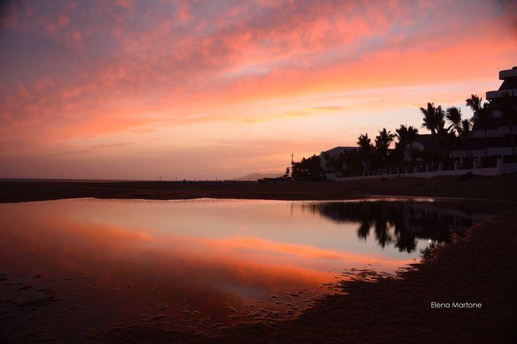 Tramonto sul mare a Lanzarote - Canarie
