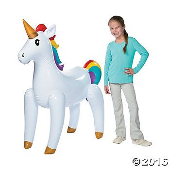 """Gigantic 47"""" Inflatable Unicorn Party Supplies Canada - Open A Party"""