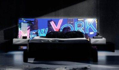 Retrobelyst sengegavl : Modell NEW YORK