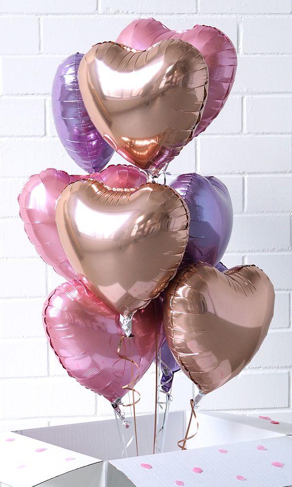 """Spread love with heart balloons. Perfect gift for Valentine's Day - Stell dir deine eigenen Bouquets aus Folienballon Herzen zusammen und wähle """"mit Heliumfüllung"""" aus oder bestelle dir gleich eine 3 Liter Heliumkartusche mit. Das Besondere:Folienballons halten sehr lang und können immer wieder befüllt werden. Happy surprise – happy Valentin´s Day Get your inspiration & shop online https://balloon-fantasy.de/ballons/folienballons/herz-folienballons/ #balloons #hearts #heart #valetinstag"""