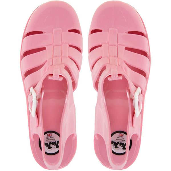 Juju Babe Pale Pink Heeled Sandals ($31) ❤ liked on Polyvore featuring shoes, sandals, clothes - shoes, pink, heeled jelly sandals, block heel sandals, strappy heeled sandals, mid-heel sandals and strappy sandals
