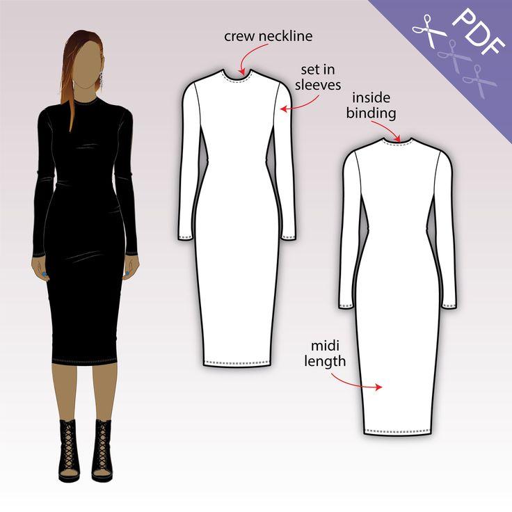 Bodycon dress sewing pattern free download pdf