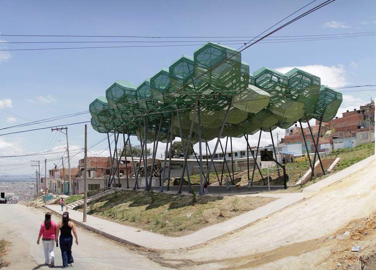 Architecture for social change. New community center for a slum in colombia. giancarlo mazzanti: bosque de la esperanza image: alejandra loreto