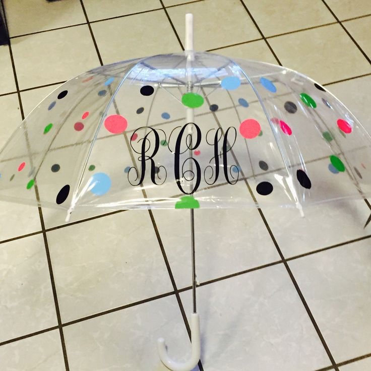March is almost over meaning April Showers bring May flowers. Get ready for April showers with a cute personalized umbrella