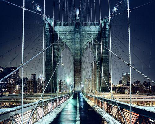 Brooklyn Bridge Walkway, New York CIty by Andrew Mace