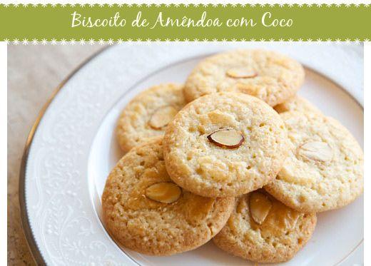 Biscoito de Amêndoas com Coco