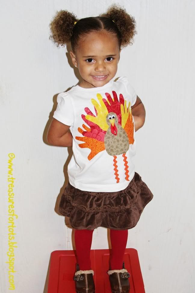 Handprint Turkey Applique Shirt