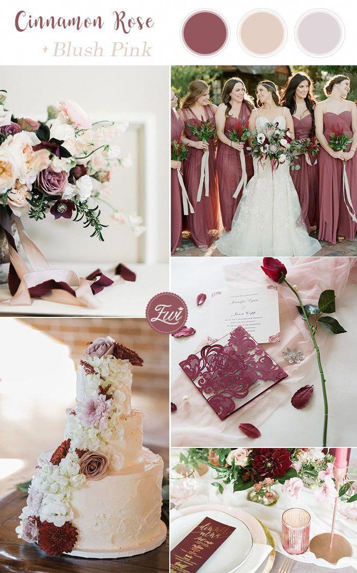 Romantic Cinnamon Rose And Blush Summer Wedding Color