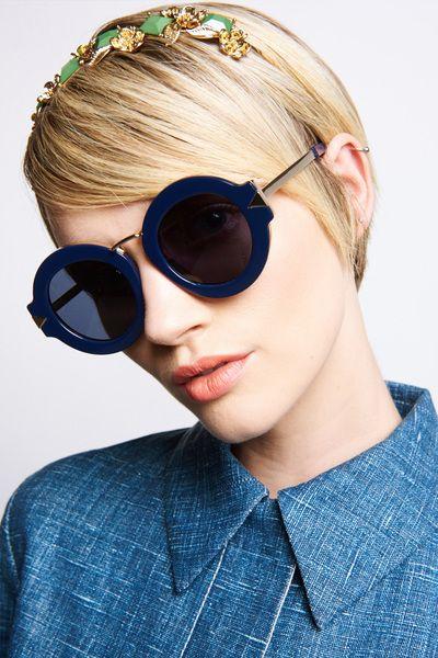 Alternative Fit Maze Navy & Gold - All Eyewear Collections | Karen Walker