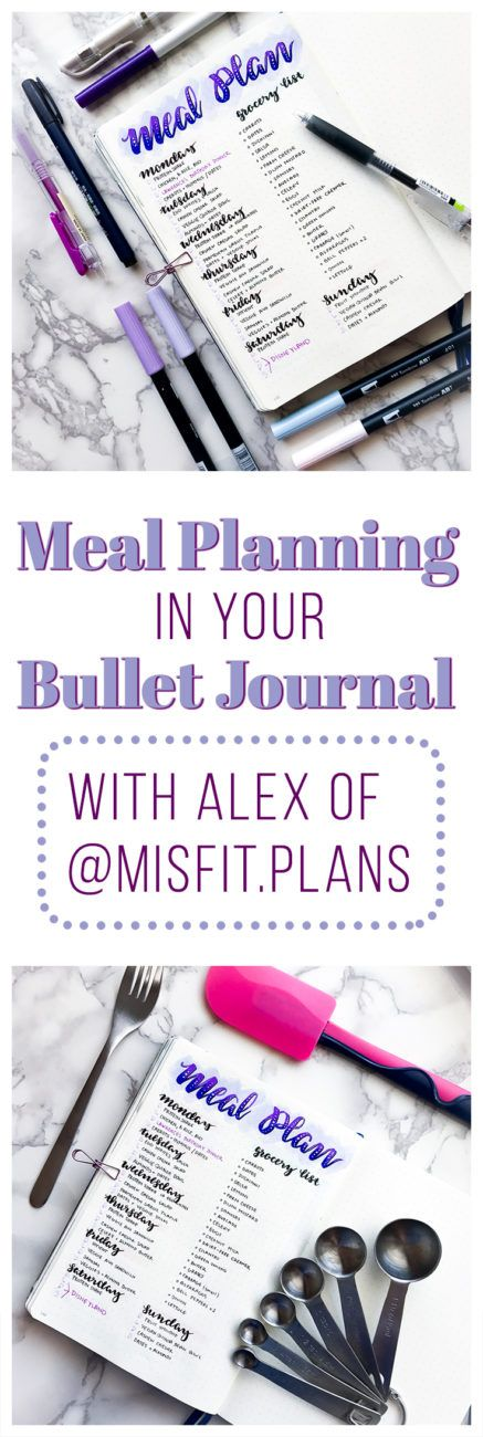 Meal planning in your bullet journal is so effective that it makes no sense to NOT do it. Find some easy tips & tricks on creating a Meal Planner in your bullet journal here!