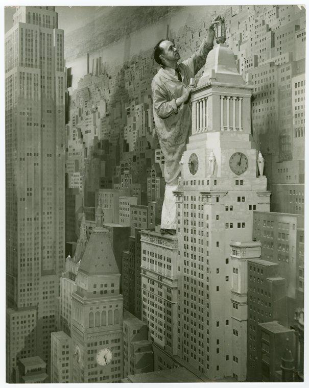 Consolidated Edison - City of Light Diorama - Artist painting model. New York World's Fair (1939-1940). NYPL Digital Gallery.