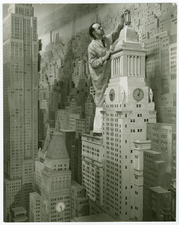 Consolidated Edison - City of Light Diorama - Artist painting model. New York World's Fair (1939-1940). NYPL Digital Gallery.