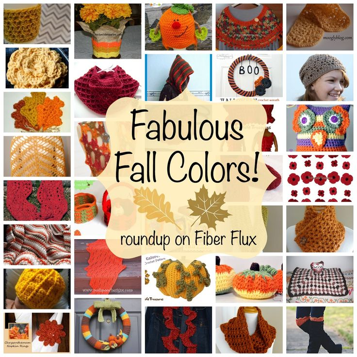 Fabulous Fall Colors!  Over 30 free crochet patterns that celebrate the spectacle of fall color, roundup on Fiber Flux