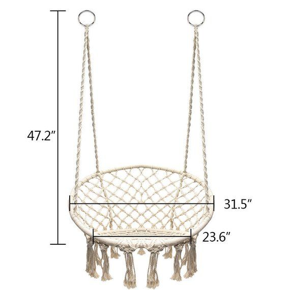 Beige, Hanging chair – Swinging chair – Swinchair – Hammock Chair – Stoel