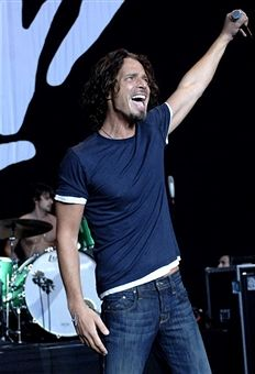 Chris Cornell performs as part of the Projekt Revolution Tour 2008 at Shoreline Amphitheatre on August 9, 2008 in Mountain View California.